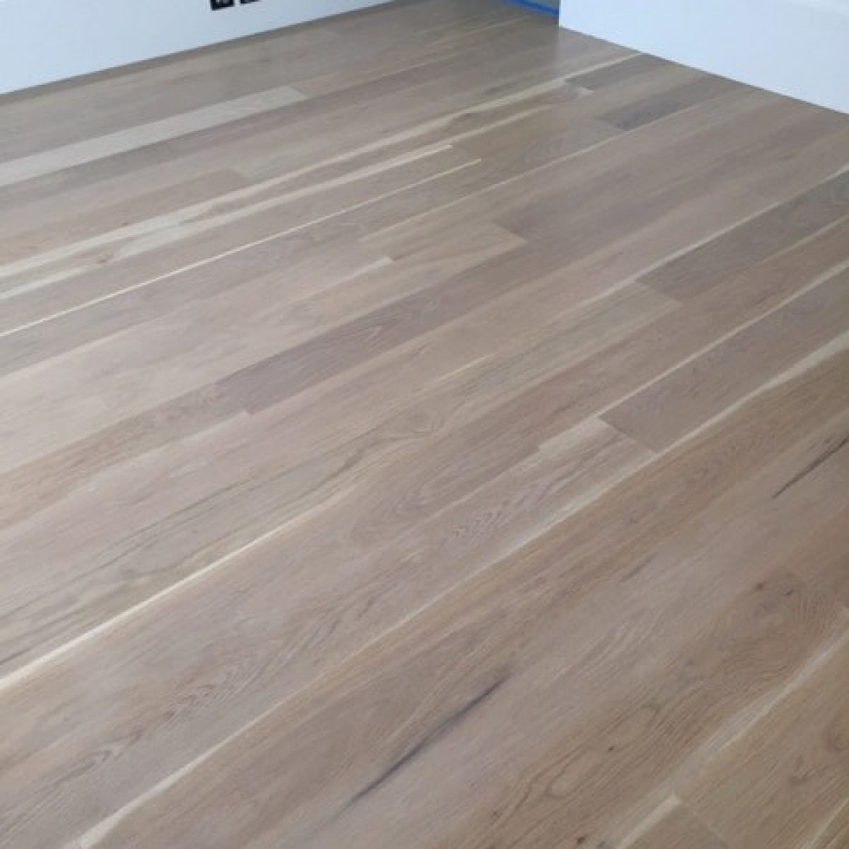 American Oak Half Stained White